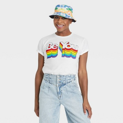 Pride Gender Inclusive Adult 'Be You' Short Sleeve Graphic T-Shirt - White