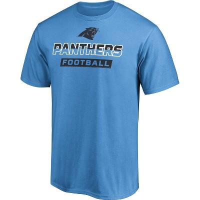 NFL Carolina Panthers Men's Iron Defense Short Sleeve T-Shirt