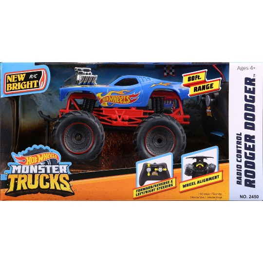 New Bright 1:24 RC Monster Truck Hot Wheels Rodger Dodger image number null