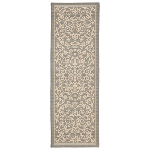 "Vaucluse Rectangle 2'3"" X 10' Outdoor Rug - Gray / Natural - Safavieh® - image 1 of 1"