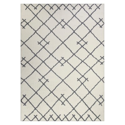 2'6 x4' Tribal Design Tufted Accent Rugs Cream - Project 62™