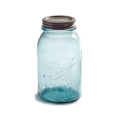 Ball 32oz 4pk Aqua Vintage Regular Mouth Jars