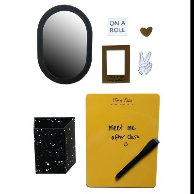 5ct Locker Decor Set Black & Gold - Paper Riot Co