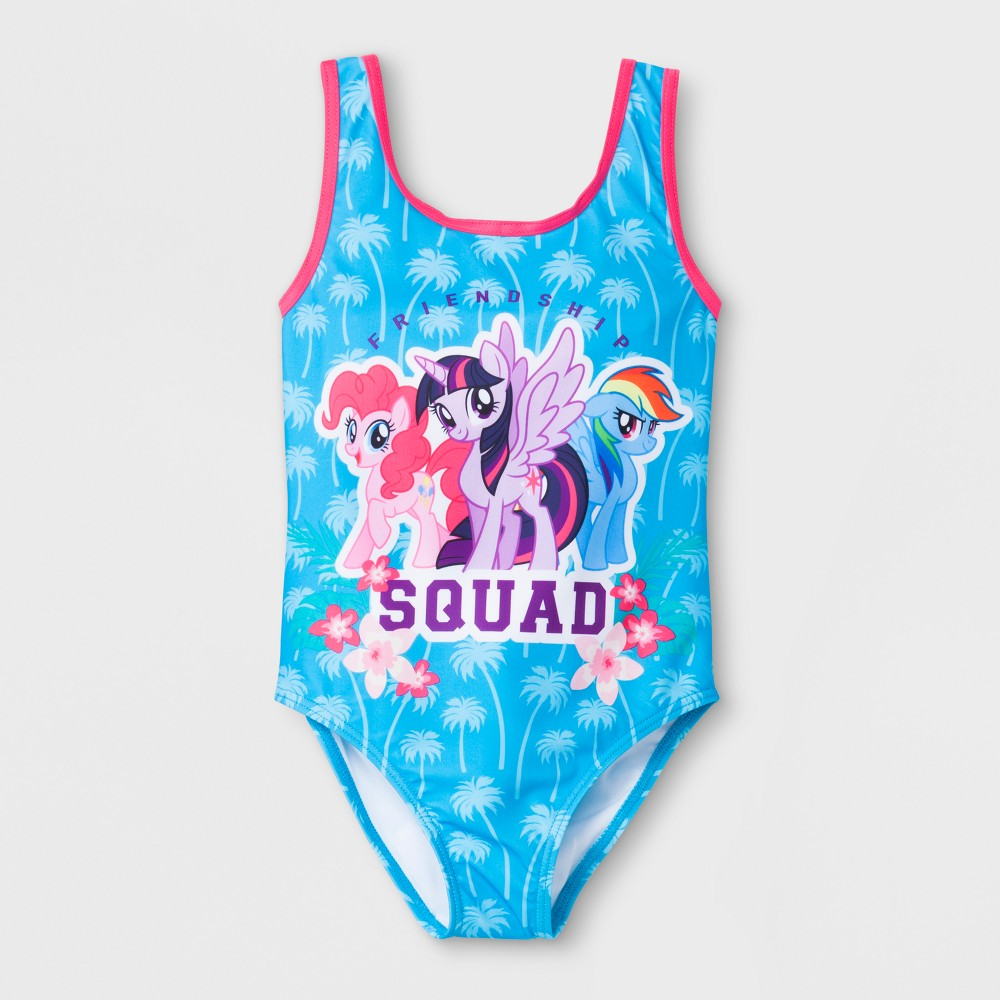 Girls' My Little Pony One Piece Swimsuit - Blue 5/6