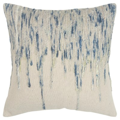 """20""""x20"""" Oversize Square Throw Pillow Blue - Rizzy Home"""