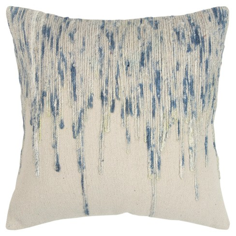 Sequined Oversize Throw Pillow Blue - Rizzy Home - image 1 of 4