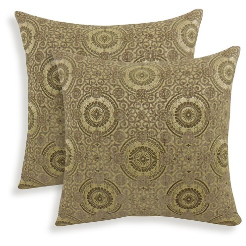 2pk Plinko Woven Medallion Throw Pillow - Essentials - image 1 of 1