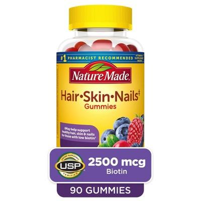 Nature Made Hair, Skin & Nails 2500 mcg Gummies - Mixed Berry - 90ct