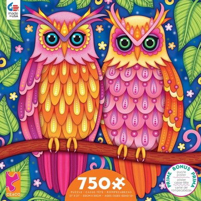Ceaco Groovy Animals: Owls Puzzle 750pc
