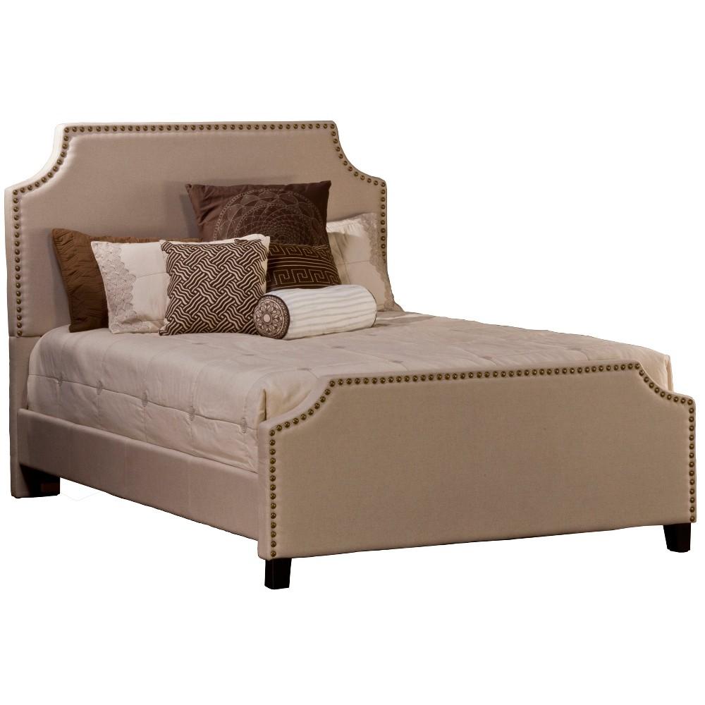 California King Dekland Bed Set with Rails Linen - Hillsdale Furniture, Beige