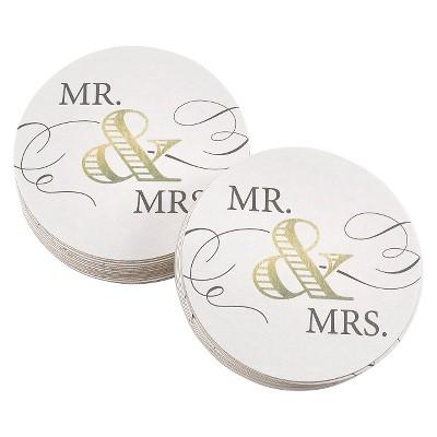 """""""Mr & Mrs"""" Elegance Banner Gold"""