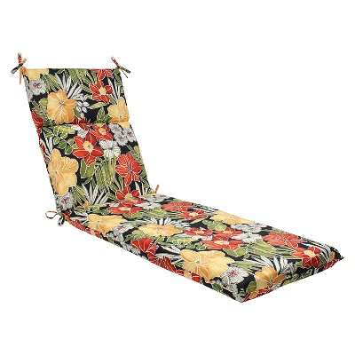 Pillow Perfect Clemens Outdoor Chaise Lounge Cushion - Black