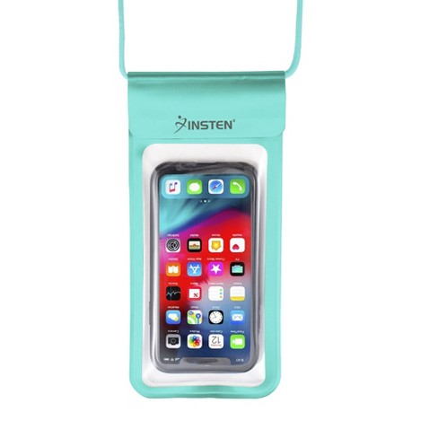 """Insten Universal IPX8 Waterproof Phone Dry Bag Pouch Case For iPhone & All Smartphones Up to 6.8"""" x 3.5"""" Light Blue - image 1 of 4"""