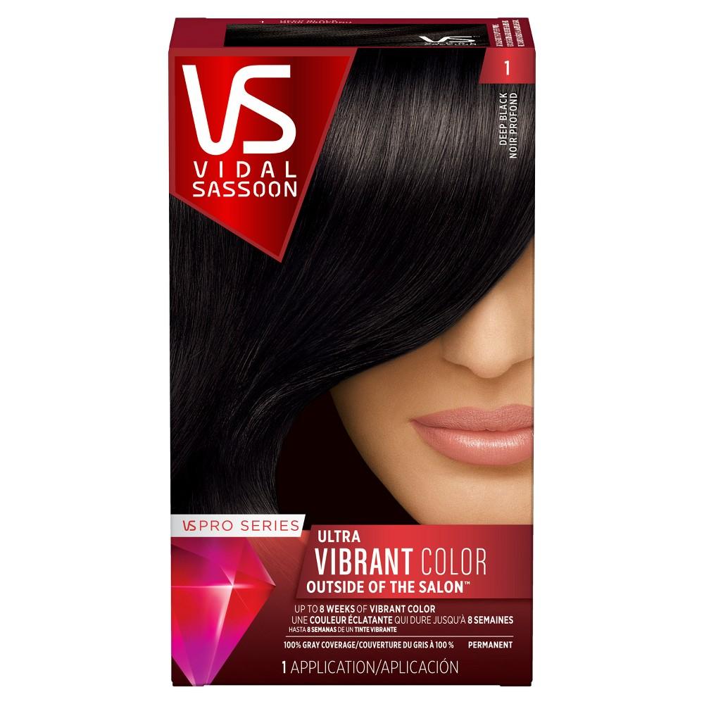 Vidal Sassoon Pro Series Permanent Hair Color - 1 Deep Black - 1 kit, Pro Series 1 Deep Black