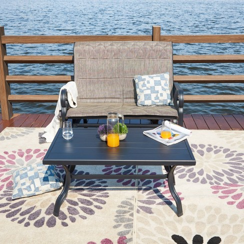 2pc Outdoor Patio Glider Seating Set, Outdoor Patio Glider