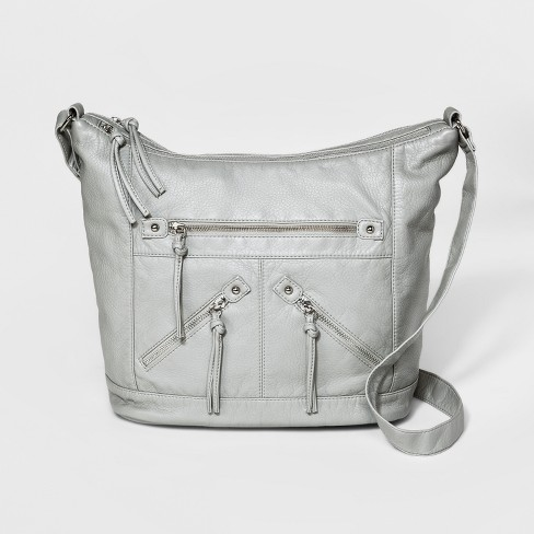 Women S Bueno Washed Hobo Handbag Gray