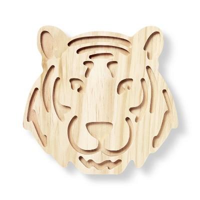 Freestanding Wood Tiger Face - Mondo Llama™