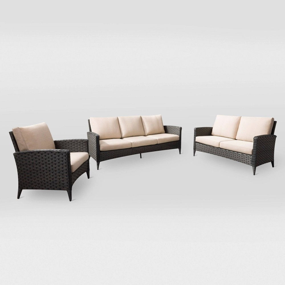 Parkview 3pc Sofa Loveseat and Chair Patio Set CorLiving