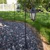 "Pure Garden Solar 10"" LED Hanging Coach Outdoor Lantern - Black - Set of 2 - image 2 of 4"