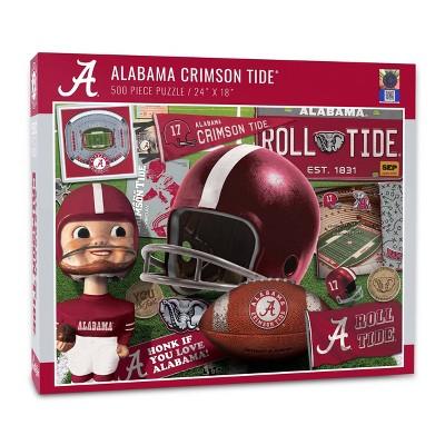 NCAA Alabama Crimson Tide Throwback Puzzle 500pc