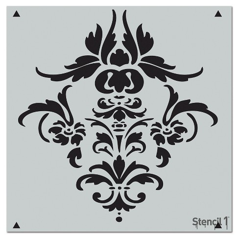 "Stencil1 Damask Repeating - Wall Stencil 11"" x 11"" - image 1 of 3"