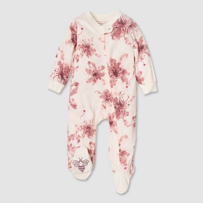 Burt's Bees Baby® Baby Girls' Organic Cotton Lily Sleep N' Play - Purple 3-6 M