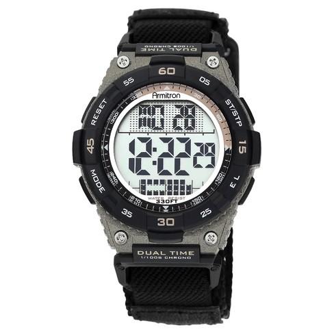 Men's Armitron Sport Chronograph Strap Watch - Black - image 1 of 1