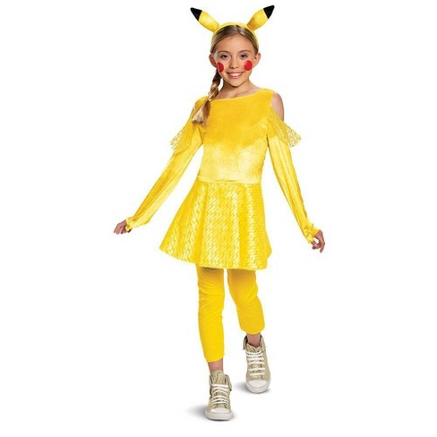 Kids Deluxe Pikachu Halloween Costume Dress M 7 8 Target