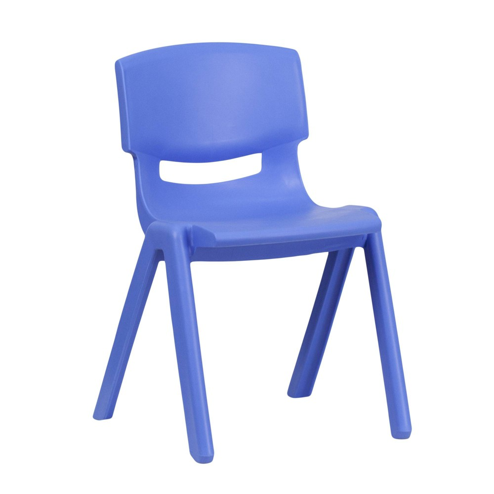 Image of Medium Stacking Student Chair - Blue - Belnick, Adult Unisex