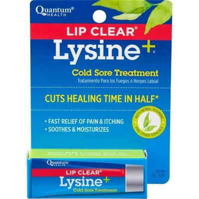 Lip Clear Lysine + Cold Sore Treatment .25oz