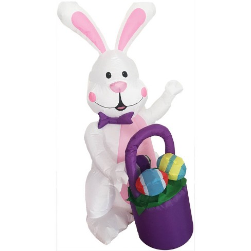 Easter 4ft Inflatable Bunny with Egg Basket - image 1 of 3