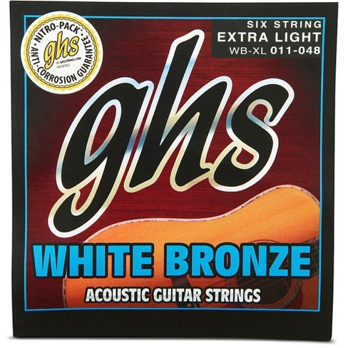 GHS White Bronze Extra Light Acoustic-Electric Strings - image 1 of 2