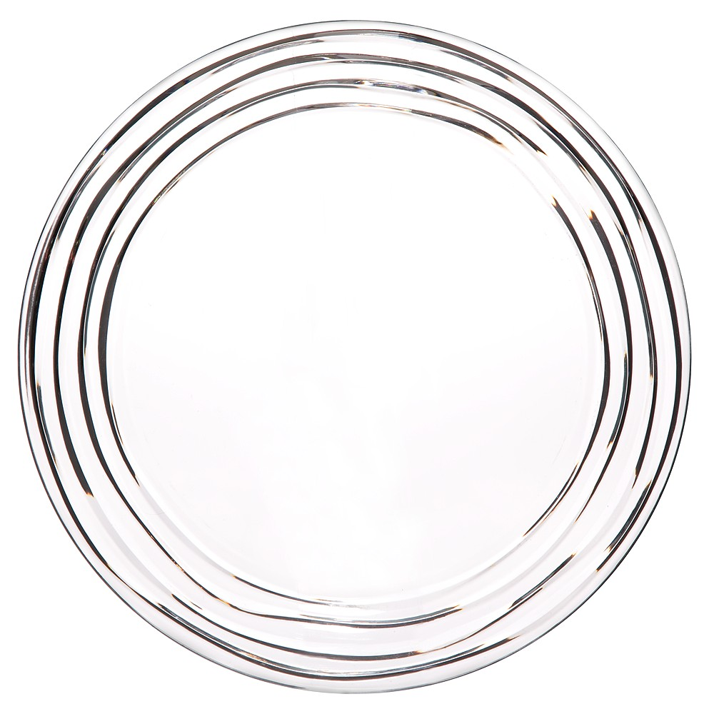 Swivel Dinner Plate Acrylic Clear 11