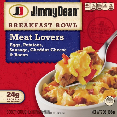 Jimmy Dean Frozen Meat Lovers Breakfast Bowl - 7oz - image 1 of 3