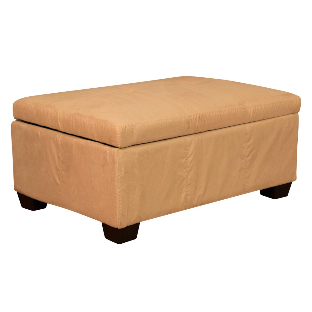 Image of Heirloom Tufted Padded Hinged Ottoman - Suede - Epic Furnishings