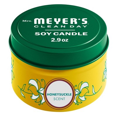 Mrs. Meyer's Honeysuckle Tin Candle - 2.9oz