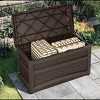 Suncast Outdoor 73 Gallon Garden Patio Storage Chest with Handles and Seat, Java - image 2 of 3