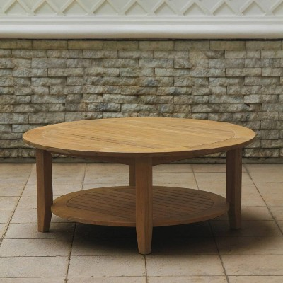 Abbington Teak Patio Coffee Table with Shelf - Cambridge Casual