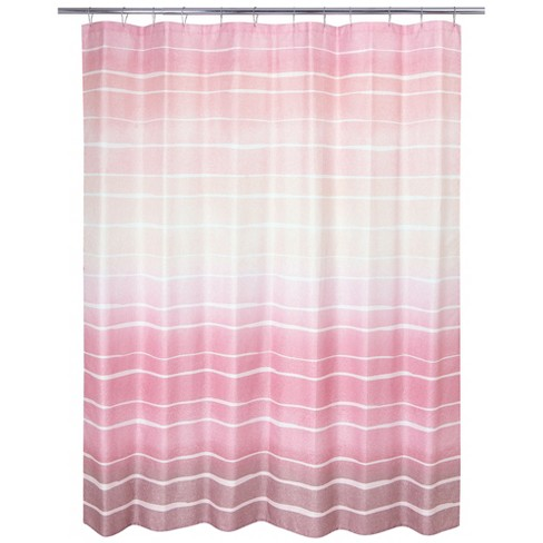 Metallic Ombre Stripe Shower Curtain Blush Pink