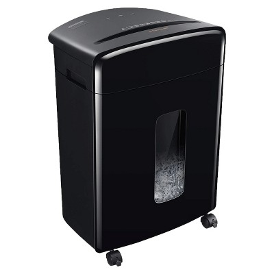 Bonsaii C222-B Portable 20 Sheet Cross Cut Paper, Card, and Disc Shredder Bin with Large 6.6 Gallon Capacity Wastebasket and 4 Rolling Wheels, Black