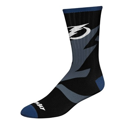 NHL Tampa Bay Lightning Tone Black Crew Socks