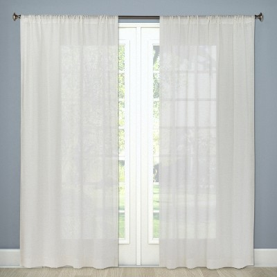 "Sheer Linen Curtain Panels 84""x54"" - Threshold™"