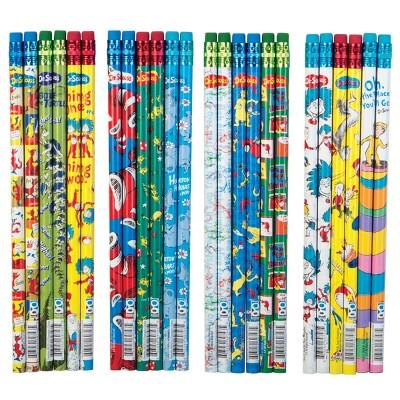 GEDDES Dr. Seuss #2 Pencils - Box of 72 Assorted Designs