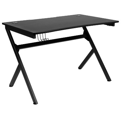 """Flash Furniture Gaming Desk 45.25"""" x 29"""" Computer Table Gamer Workstation with Headphone Holder and 2 Cable Management Holes"""