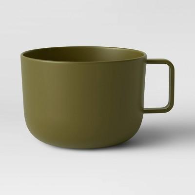 30oz Plastic Soup Mug Dark Green - Room Essentials™