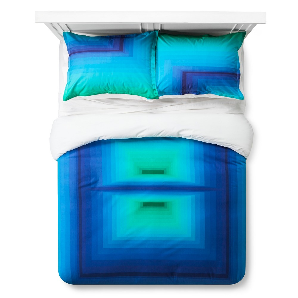 Image of Artwork Series: 'Design 2' by James Marshall Duvet Cover Set (King) - AiR, Multicolored