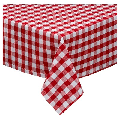 84 x60  Checkers Tablecloth Red - Design Imports