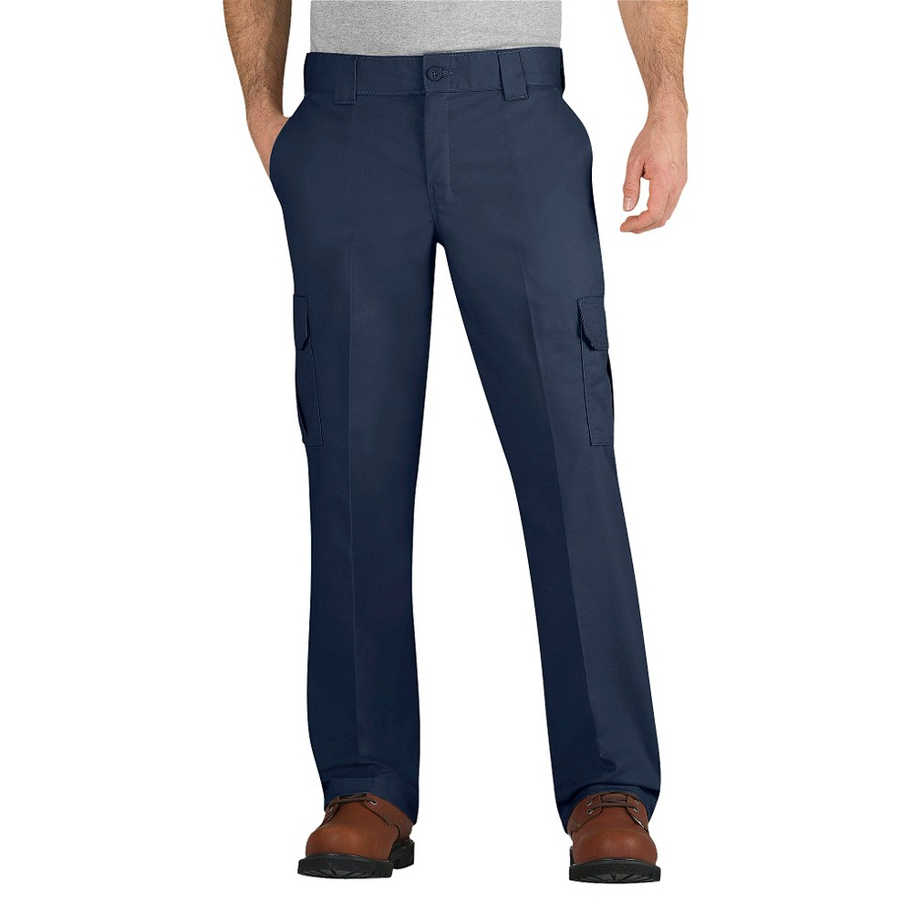 Dickies - Men's Big & Tall Regular Straight Fit Flex Twill Cargo Pants Navy 44x32, Dark Navy
