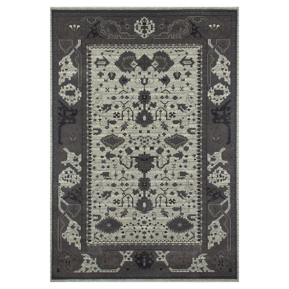 Cream (Ivory) Abstract Woven Area Rug - (8'X12') - Art Carpet