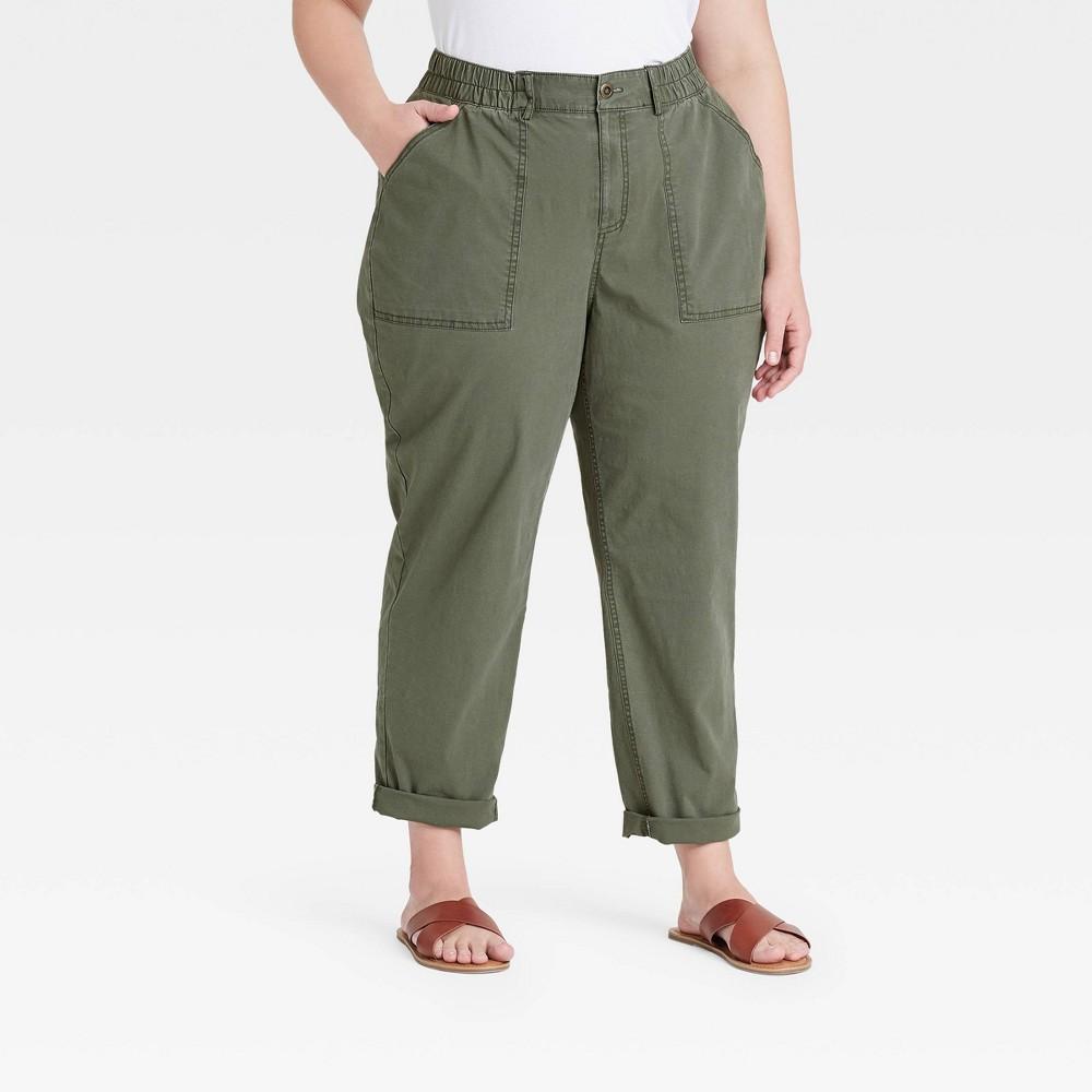 Women 39 S Plus Size Casual Pants Ava 38 Viv 8482 Olive 18w